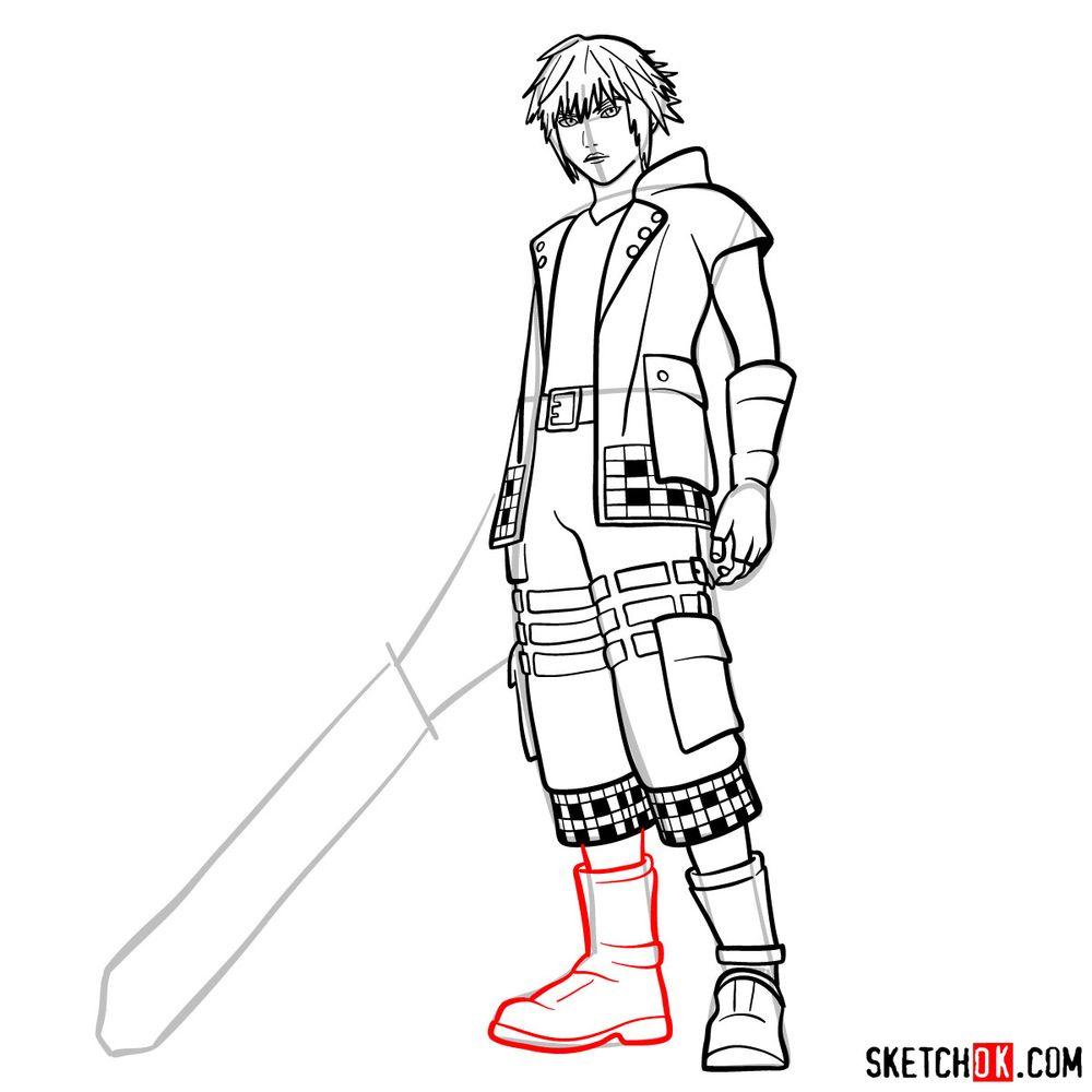 How to draw Riku - step 15