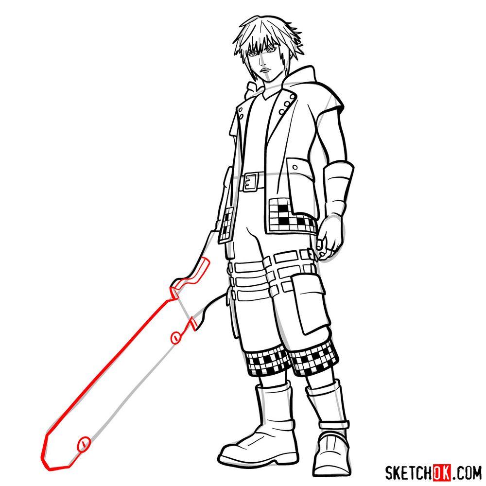 How to draw Riku - step 17