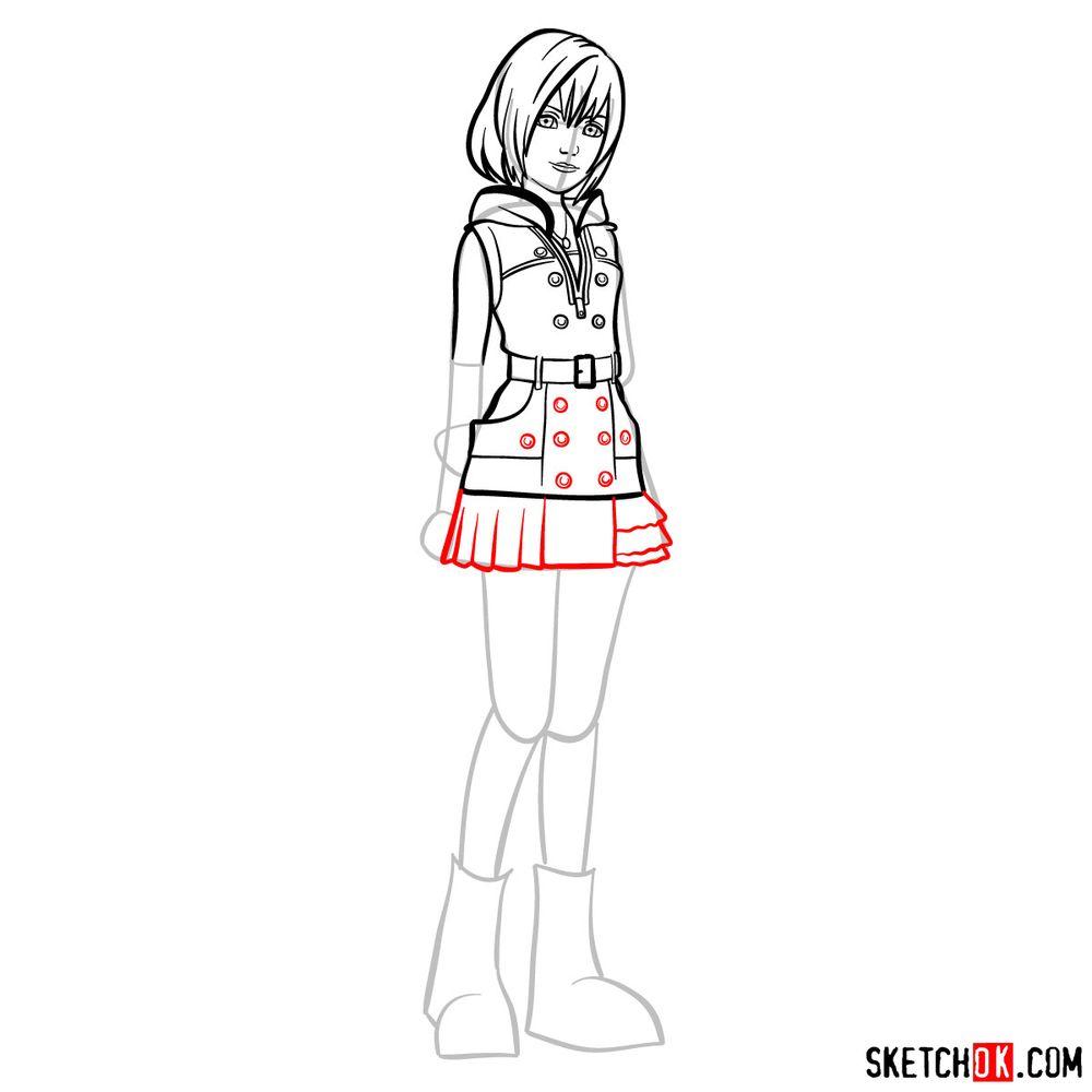How to draw Kairi - step 10