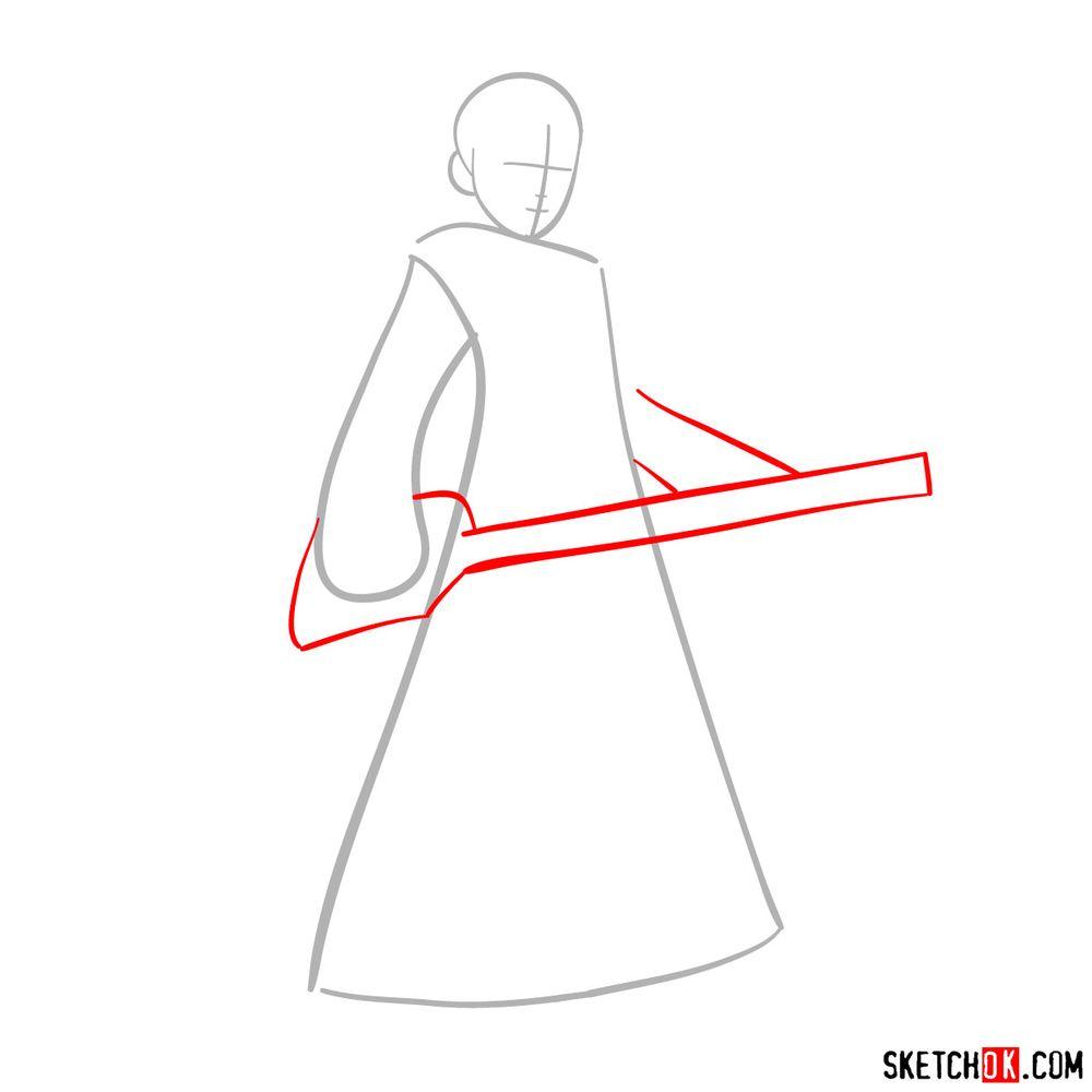 How to draw Roxas - step 02