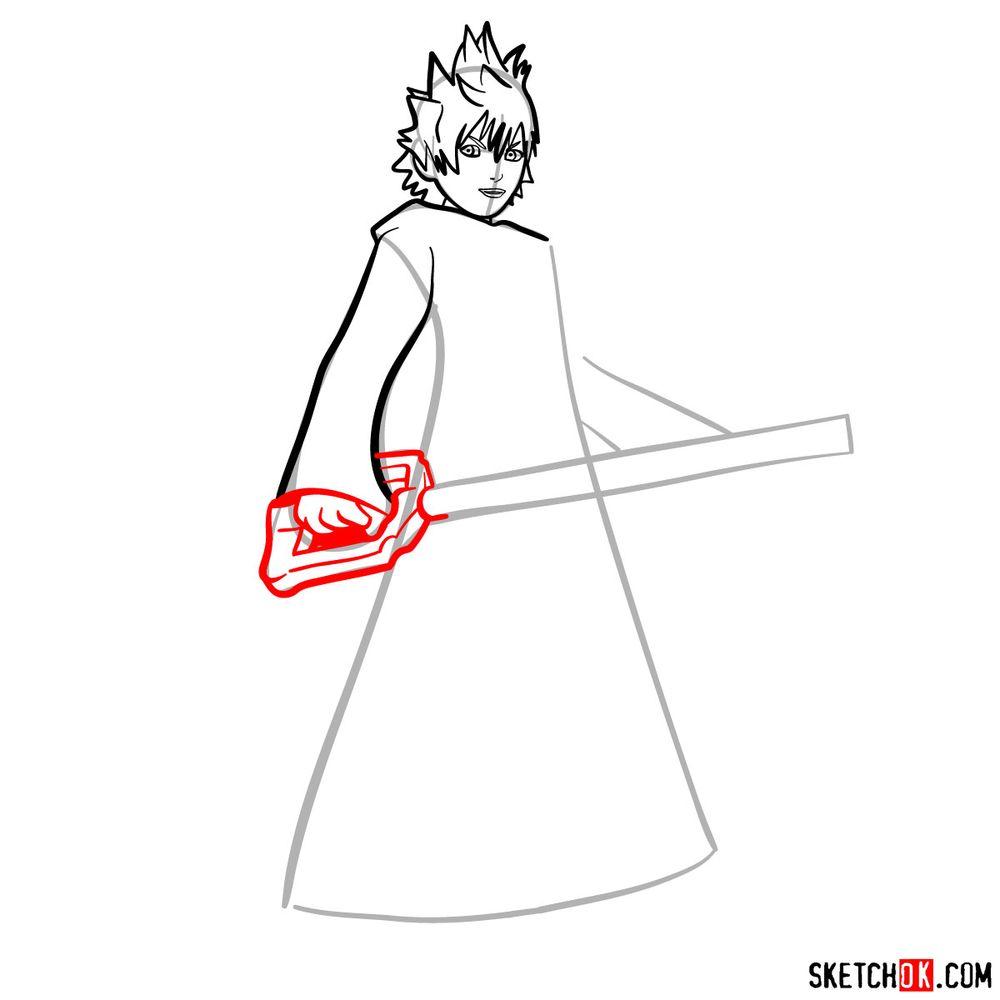 How to draw Roxas - step 08