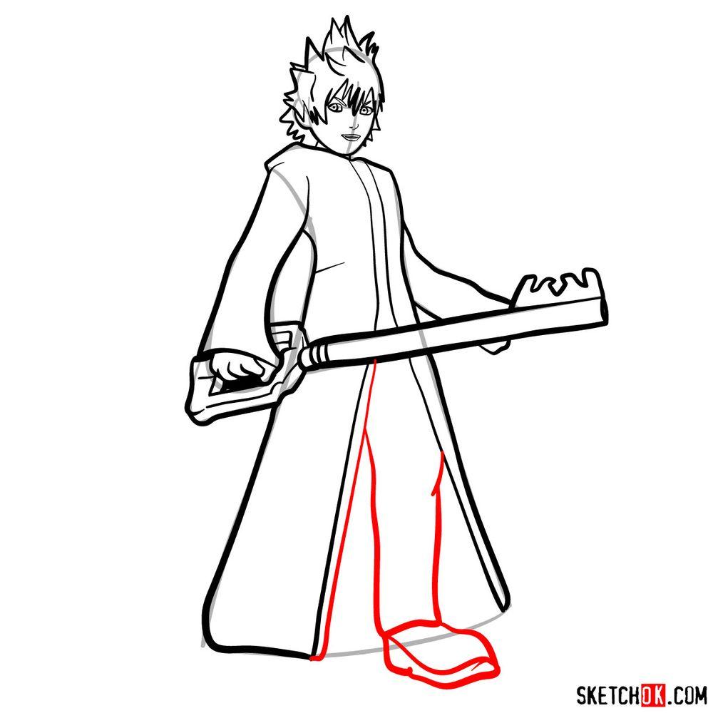How to draw Roxas - step 12