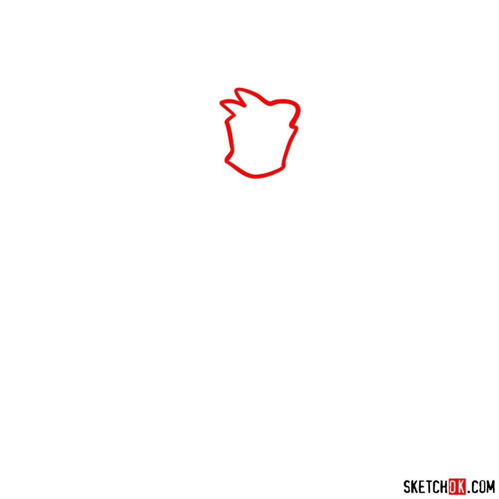 How to draw Mommy Mearest - step 01