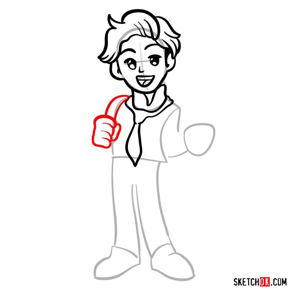 How to draw Senpai - step 07