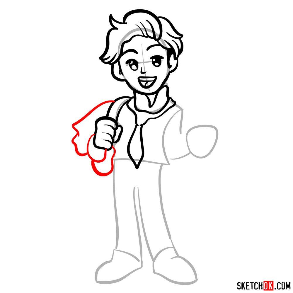 How to draw Senpai - step 08