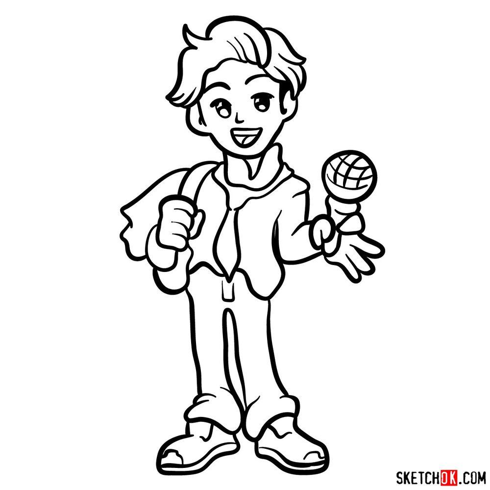 How to draw Senpai