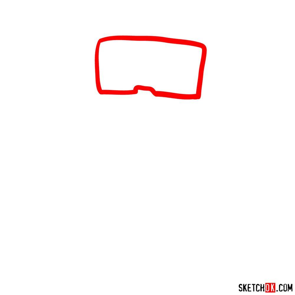 How to draw Tankman - step 01