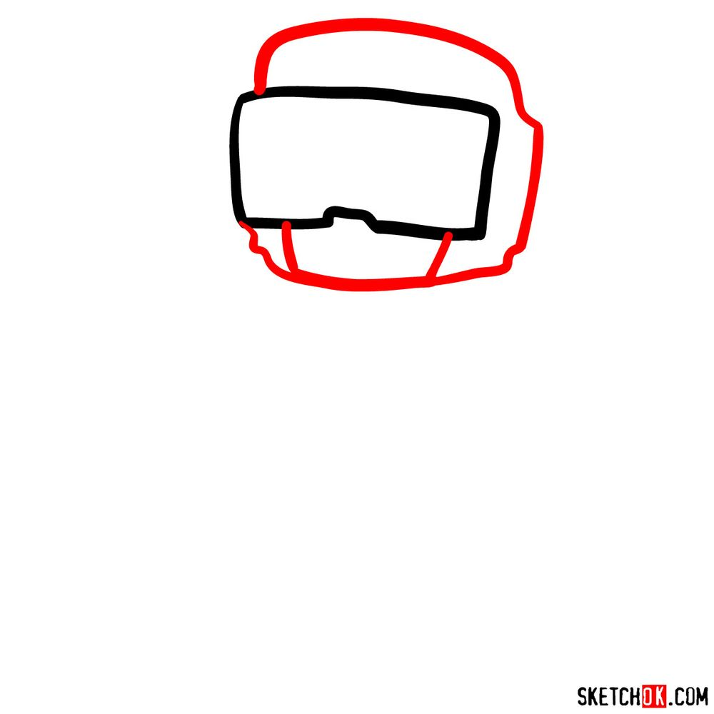How to draw Tankman - step 02