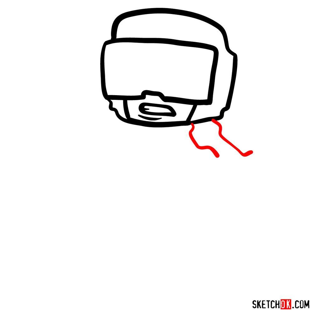 How to draw Tankman - step 04