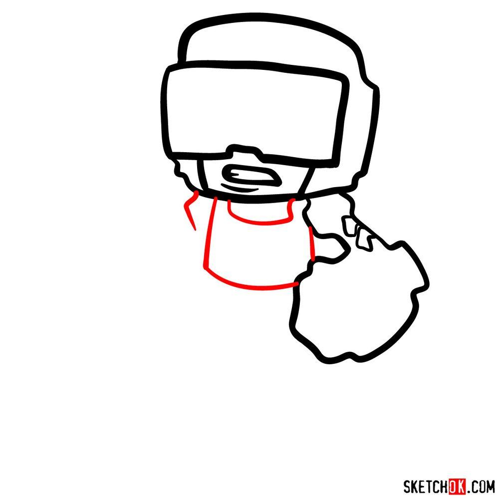 How to draw Tankman - step 06