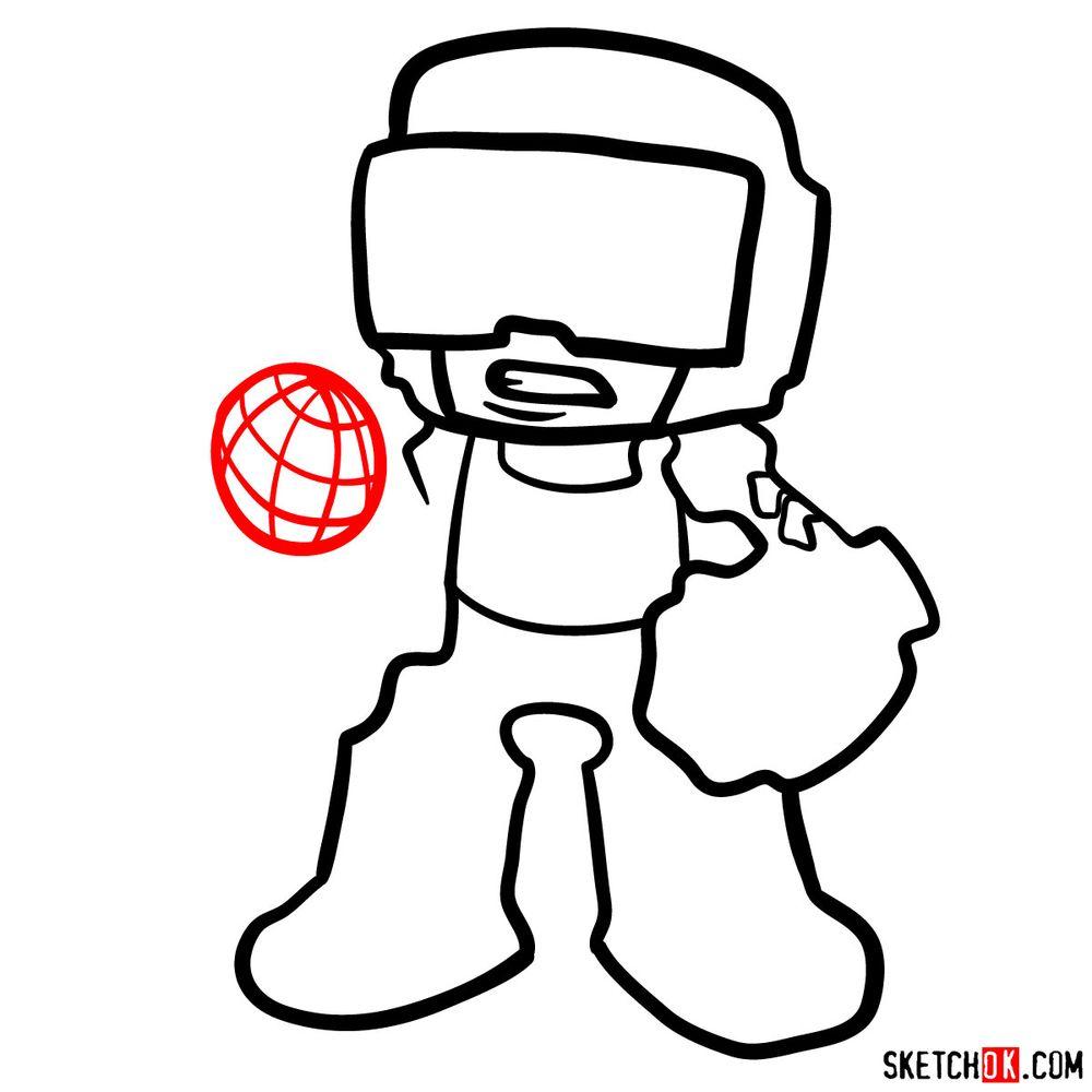 How to draw Tankman - step 09