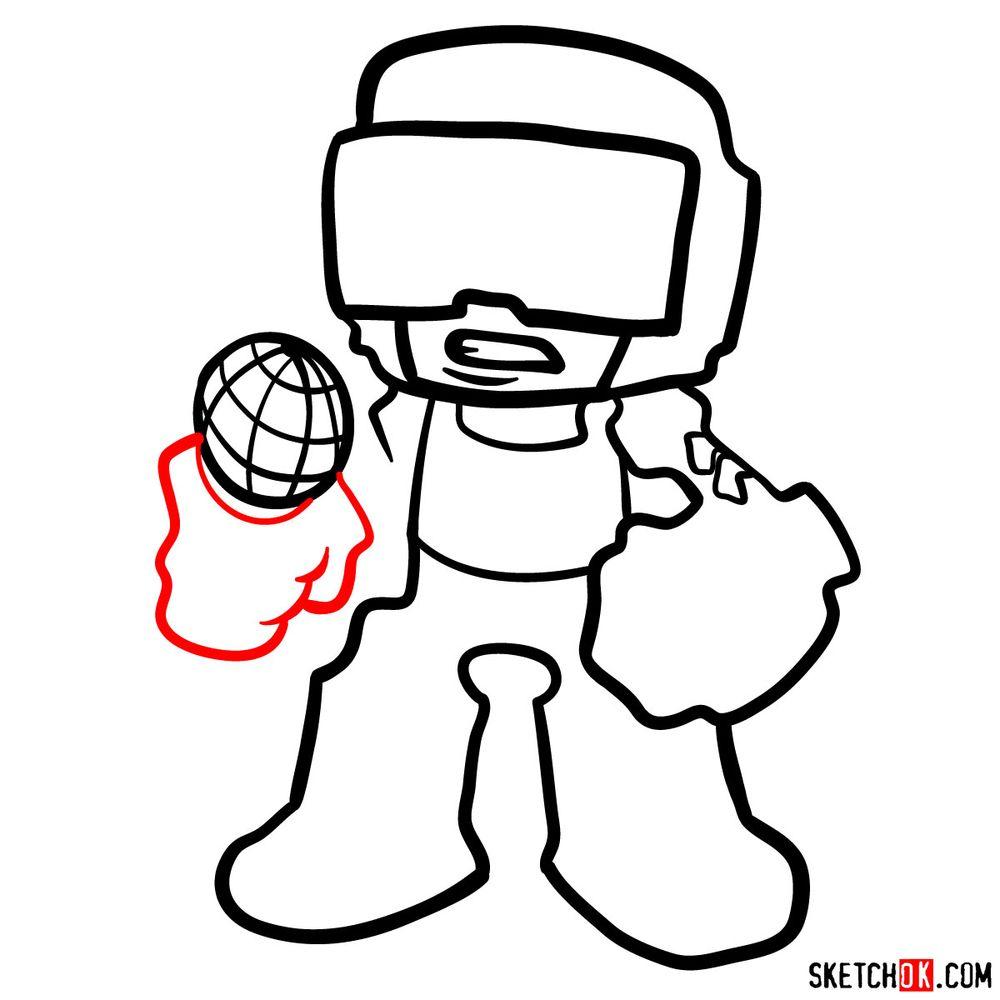 How to draw Tankman - step 10