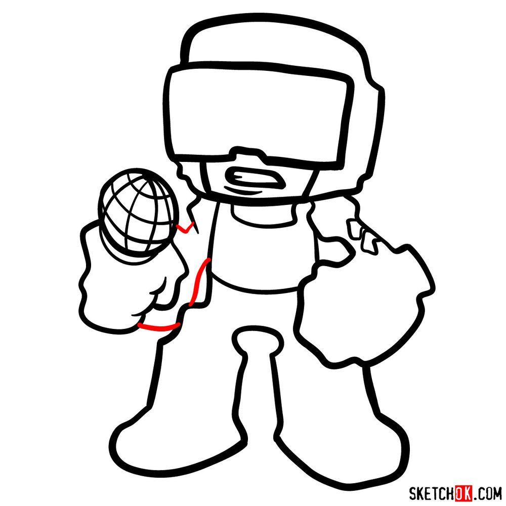 How to draw Tankman - step 11