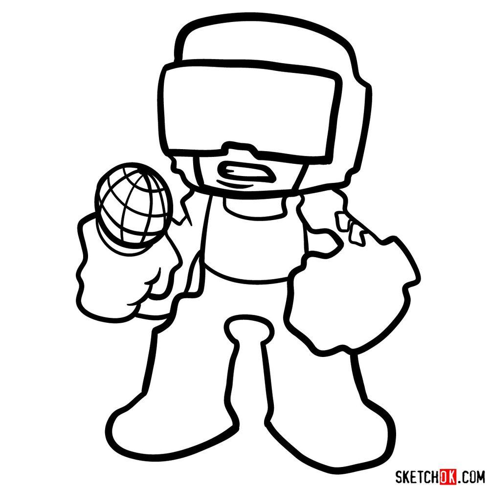 How to draw Tankman