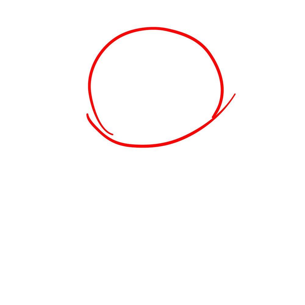 How to draw Mano Aloe - FNF - step 01