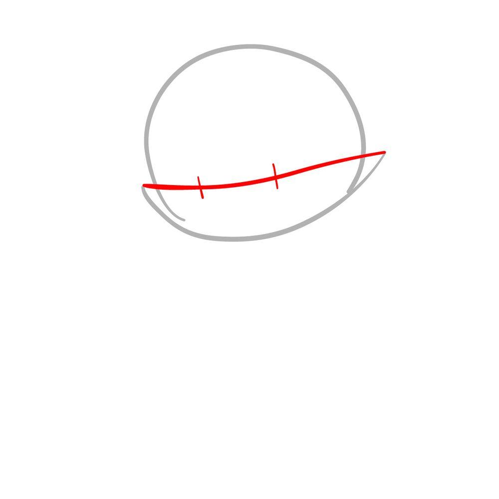 How to draw Mano Aloe - FNF - step 02
