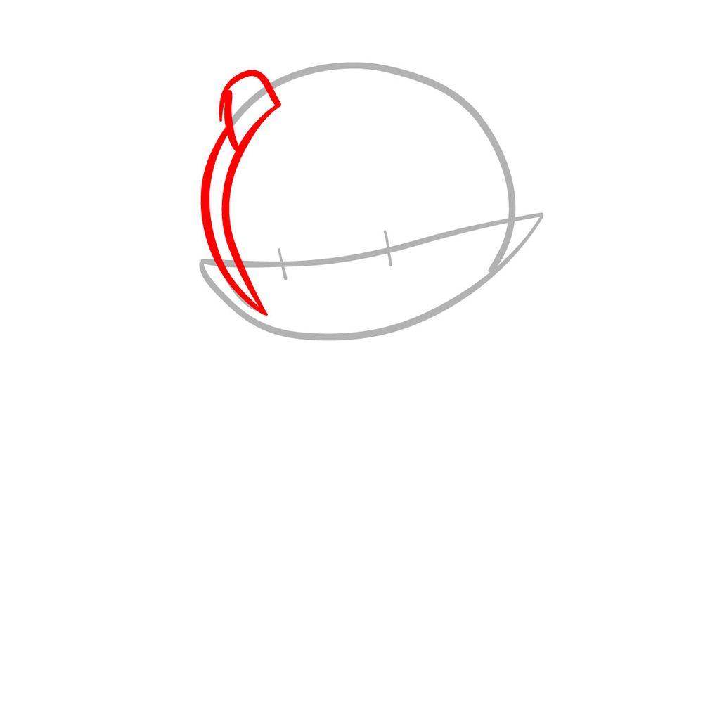 How to draw Mano Aloe - FNF - step 03