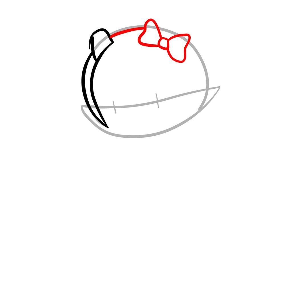 How to draw Mano Aloe - FNF - step 04
