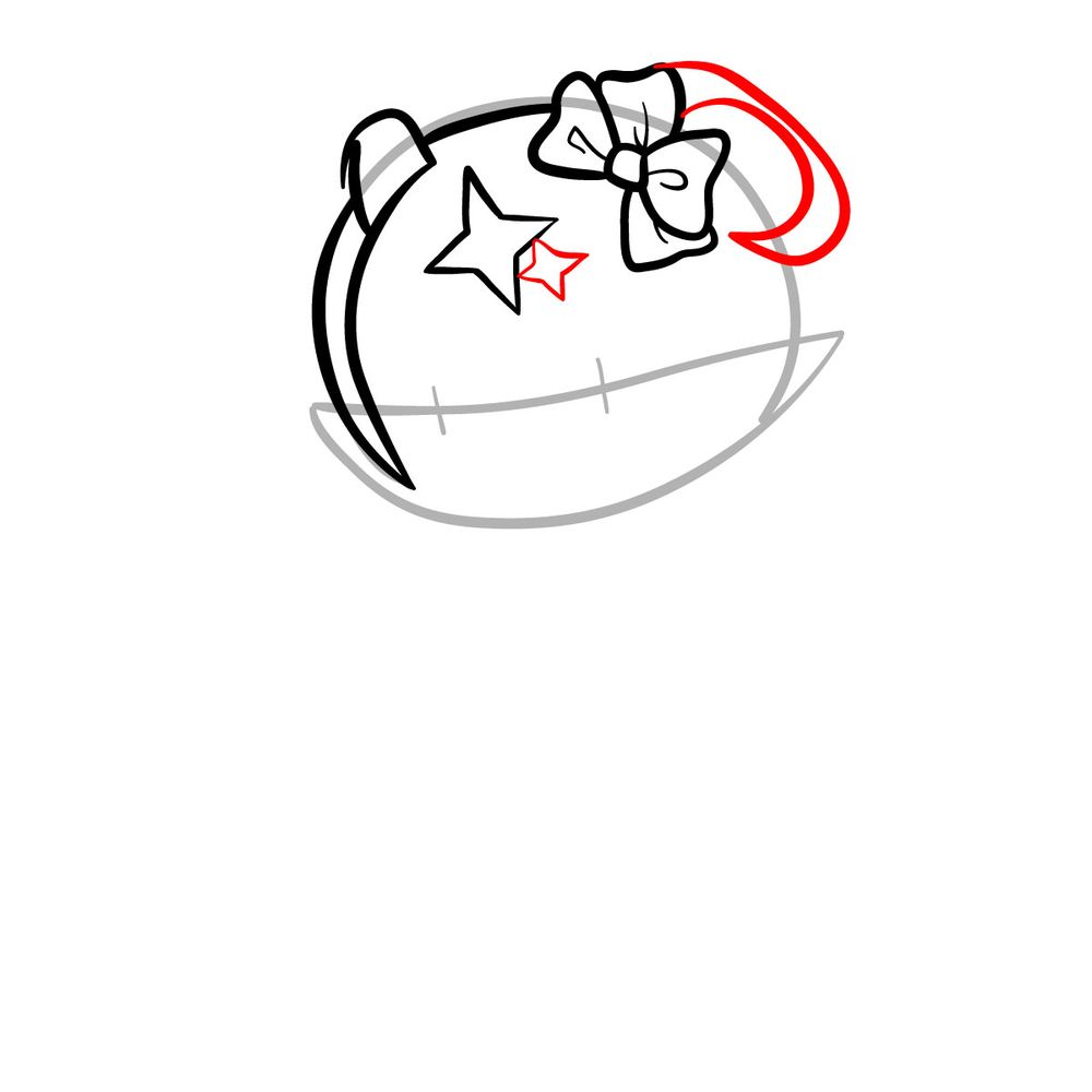 How to draw Mano Aloe - FNF - step 06