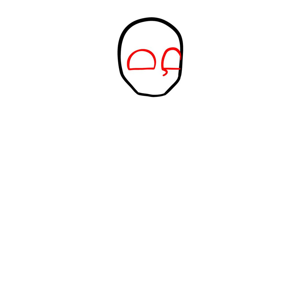 How to draw Henry Morris (Eteled) - FNF - step 02
