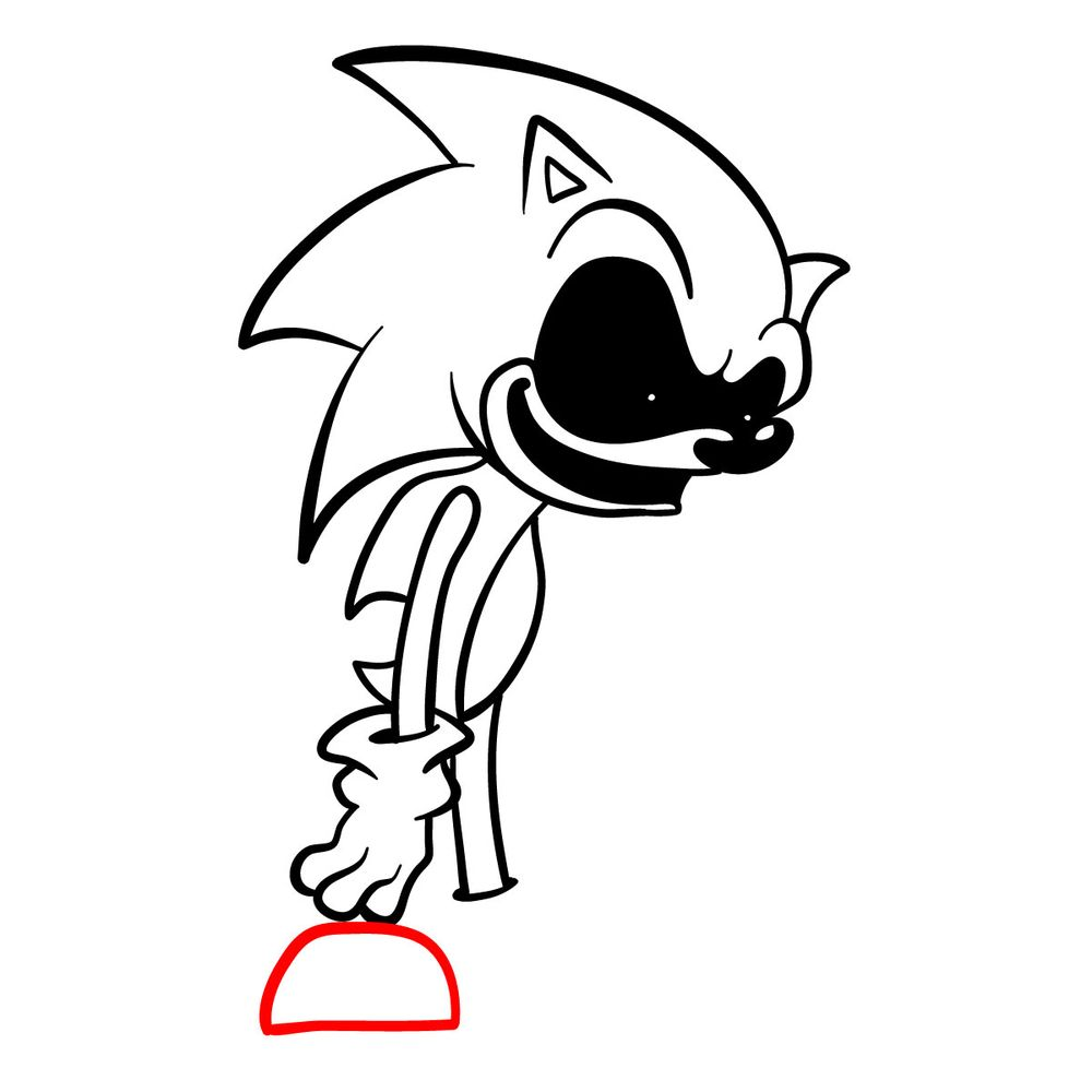 How to draw Sonic.Exe - FNF - step 14