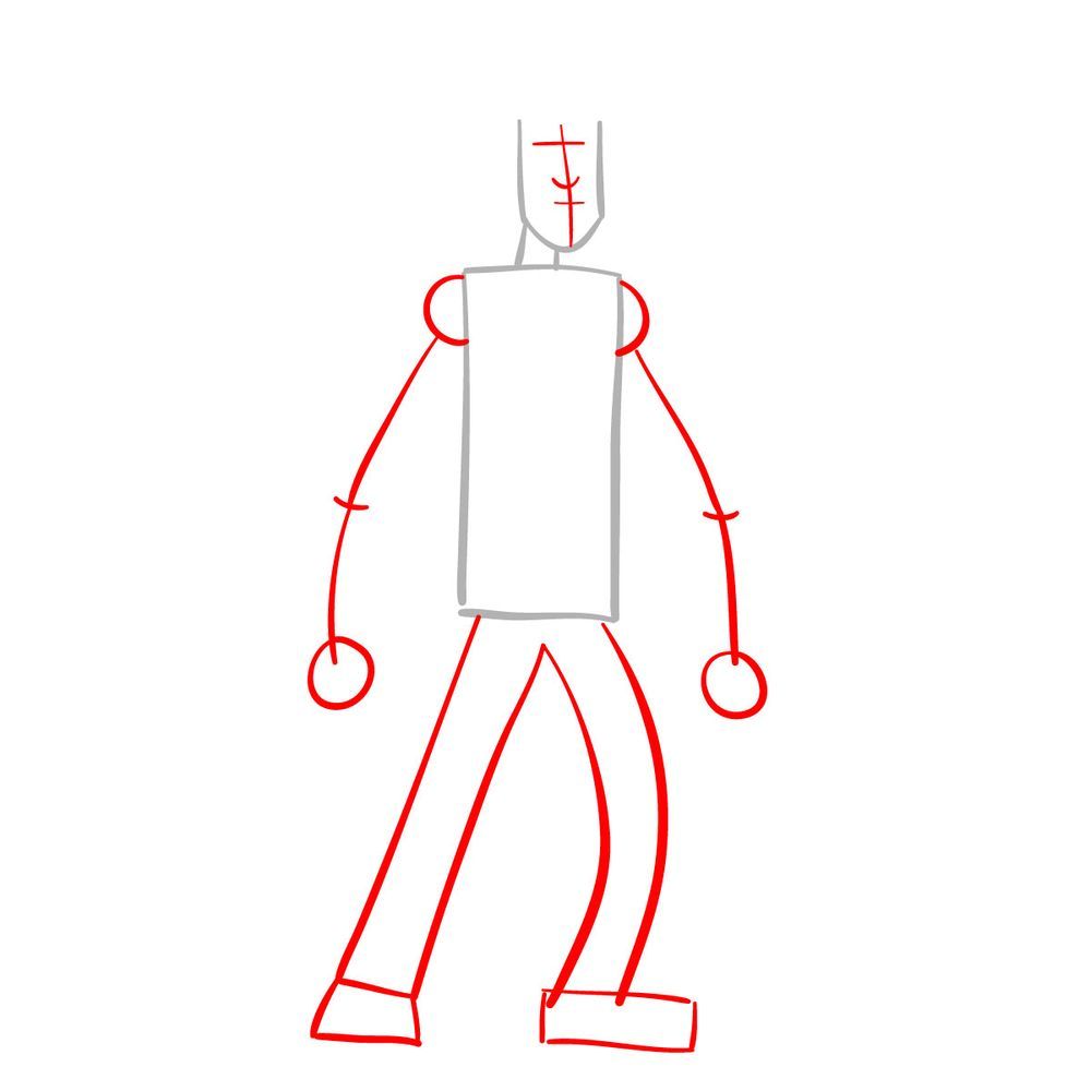 How to draw Shaggy - FNF - step 02