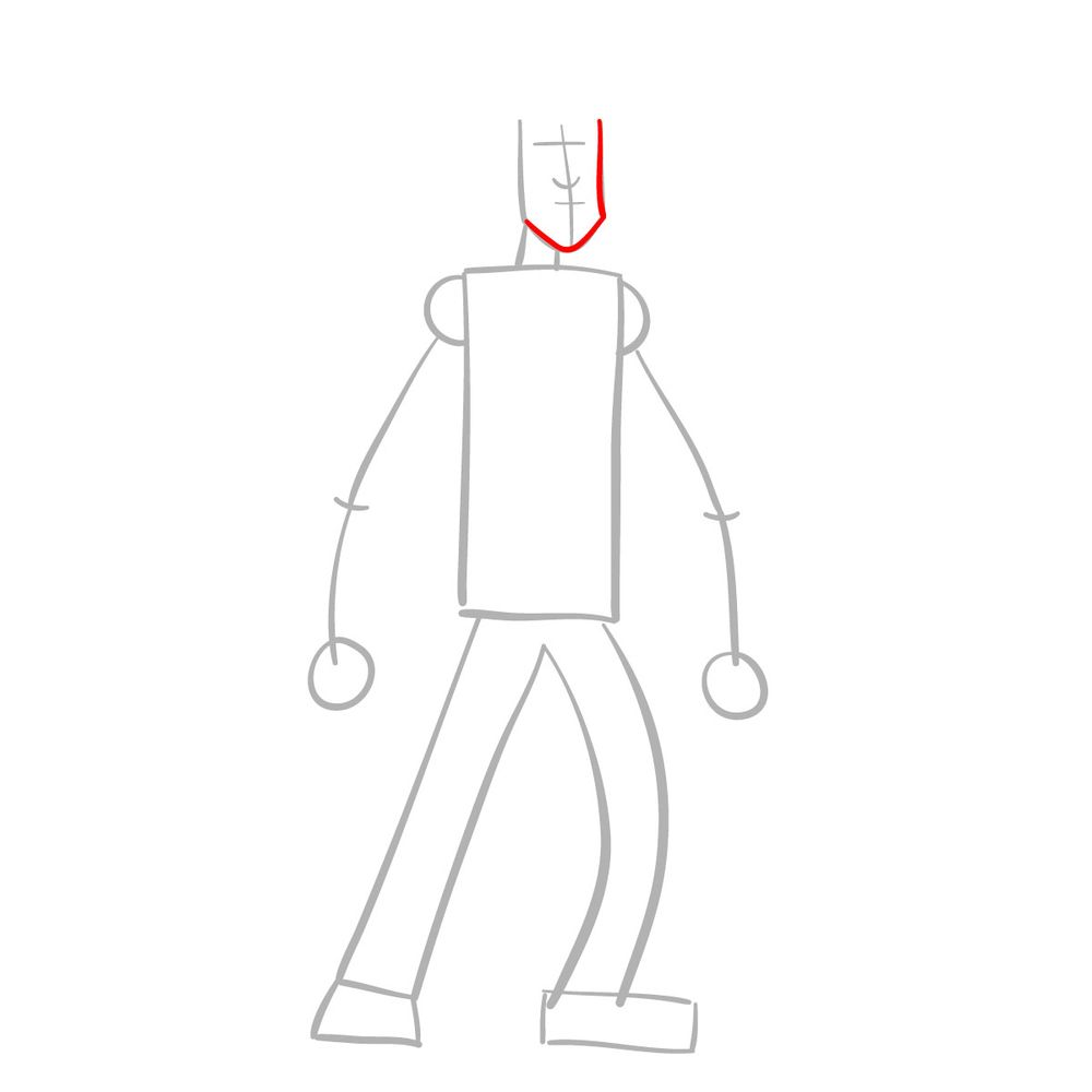 How to draw Shaggy - FNF - step 03