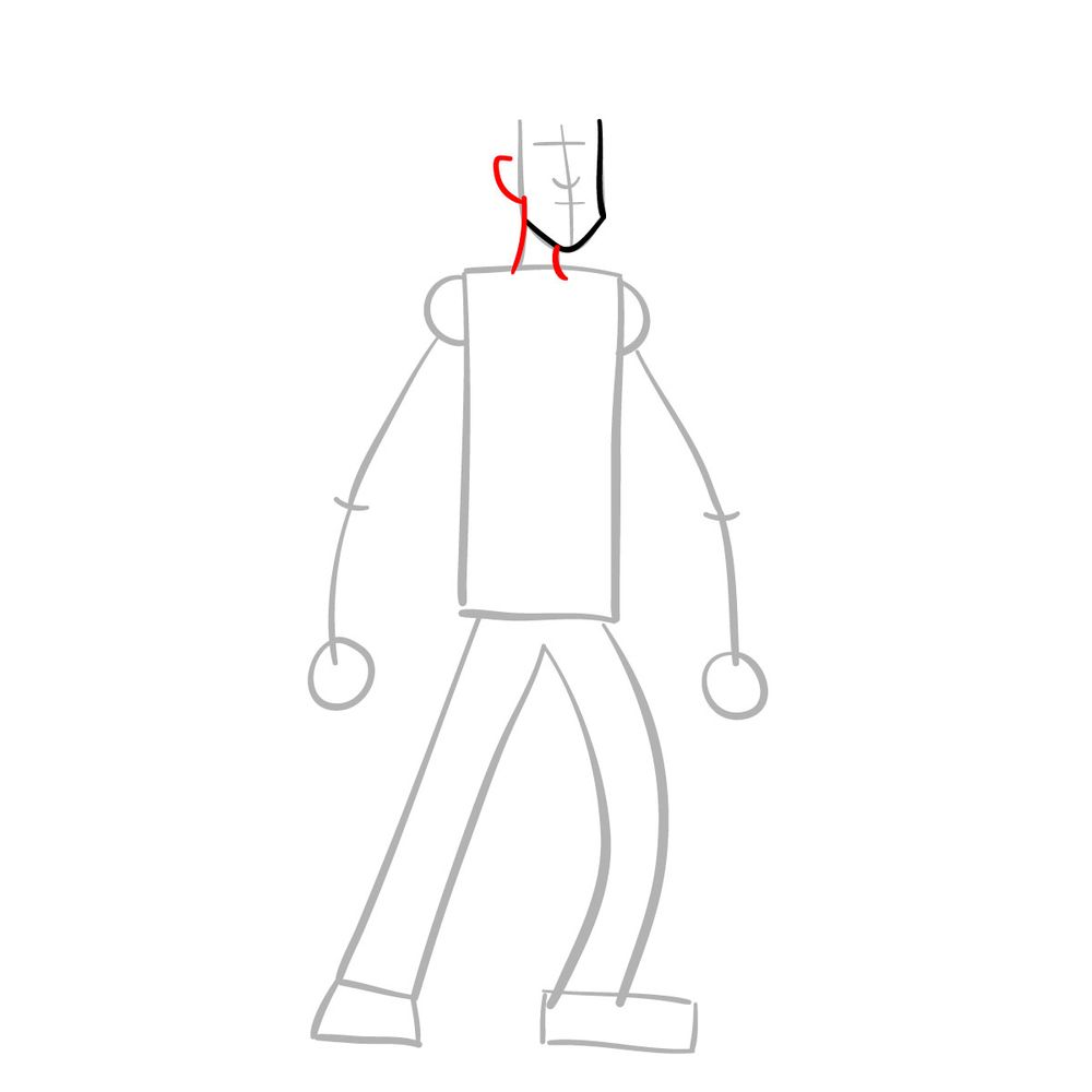 How to draw Shaggy - FNF - step 04