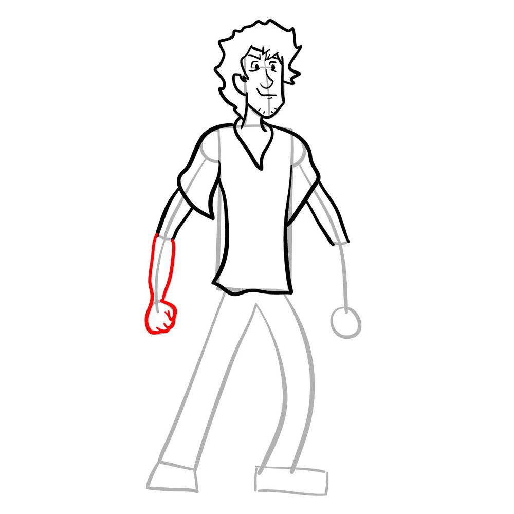 How to draw Shaggy - FNF - step 15