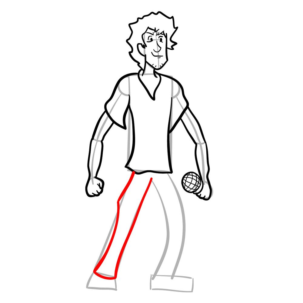How to draw Shaggy - FNF - step 18