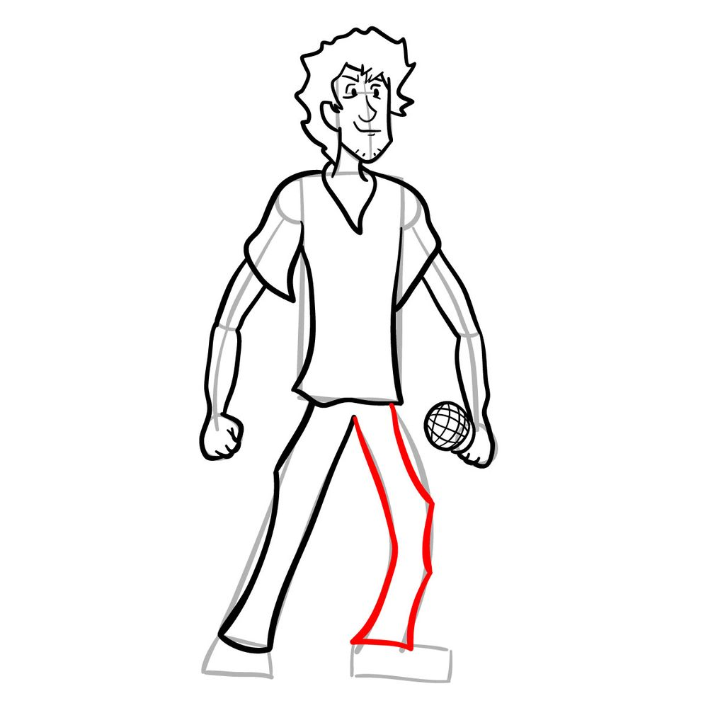 How to draw Shaggy - FNF - step 19