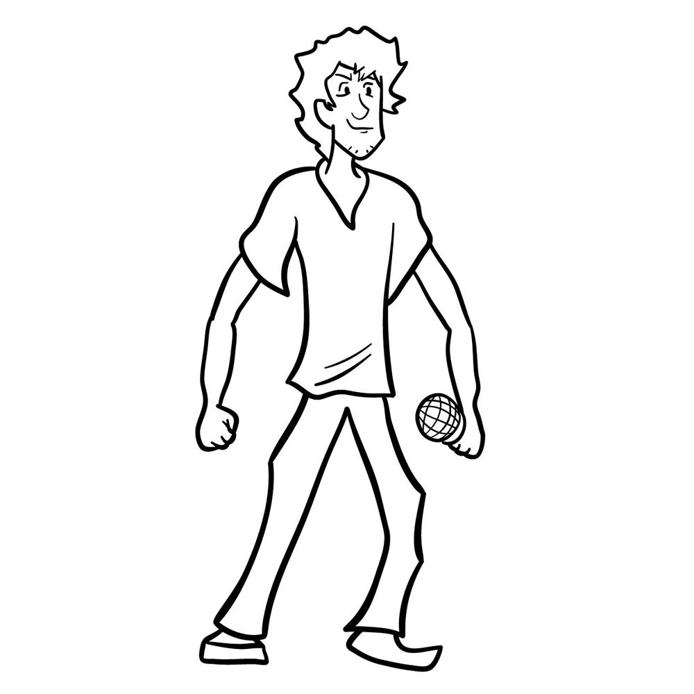 How to draw Shaggy – FNF