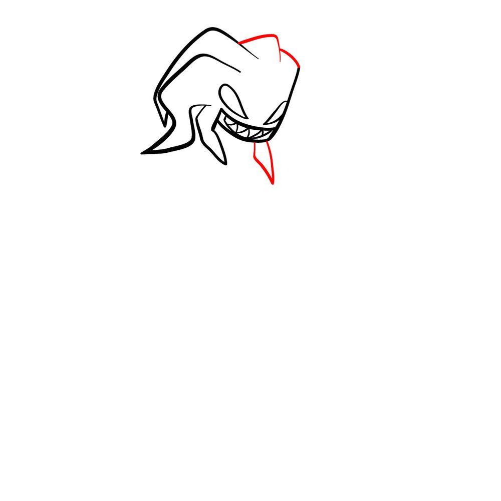 How to draw Agoti - FNF - step 07