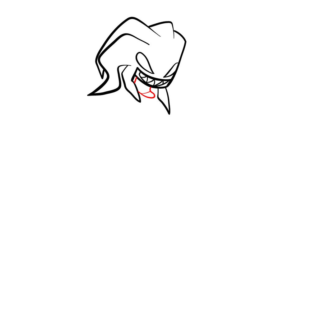 How to draw Agoti - FNF - step 08