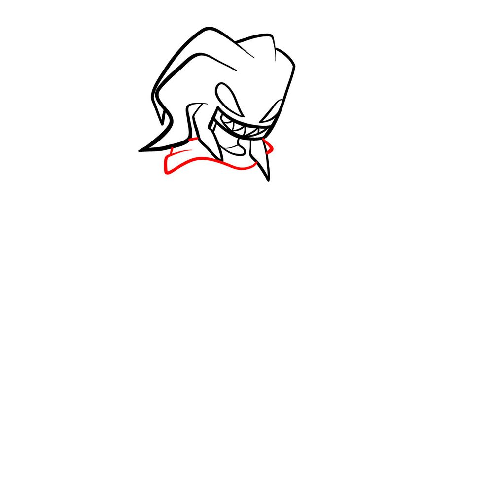 How to draw Agoti - FNF - step 09
