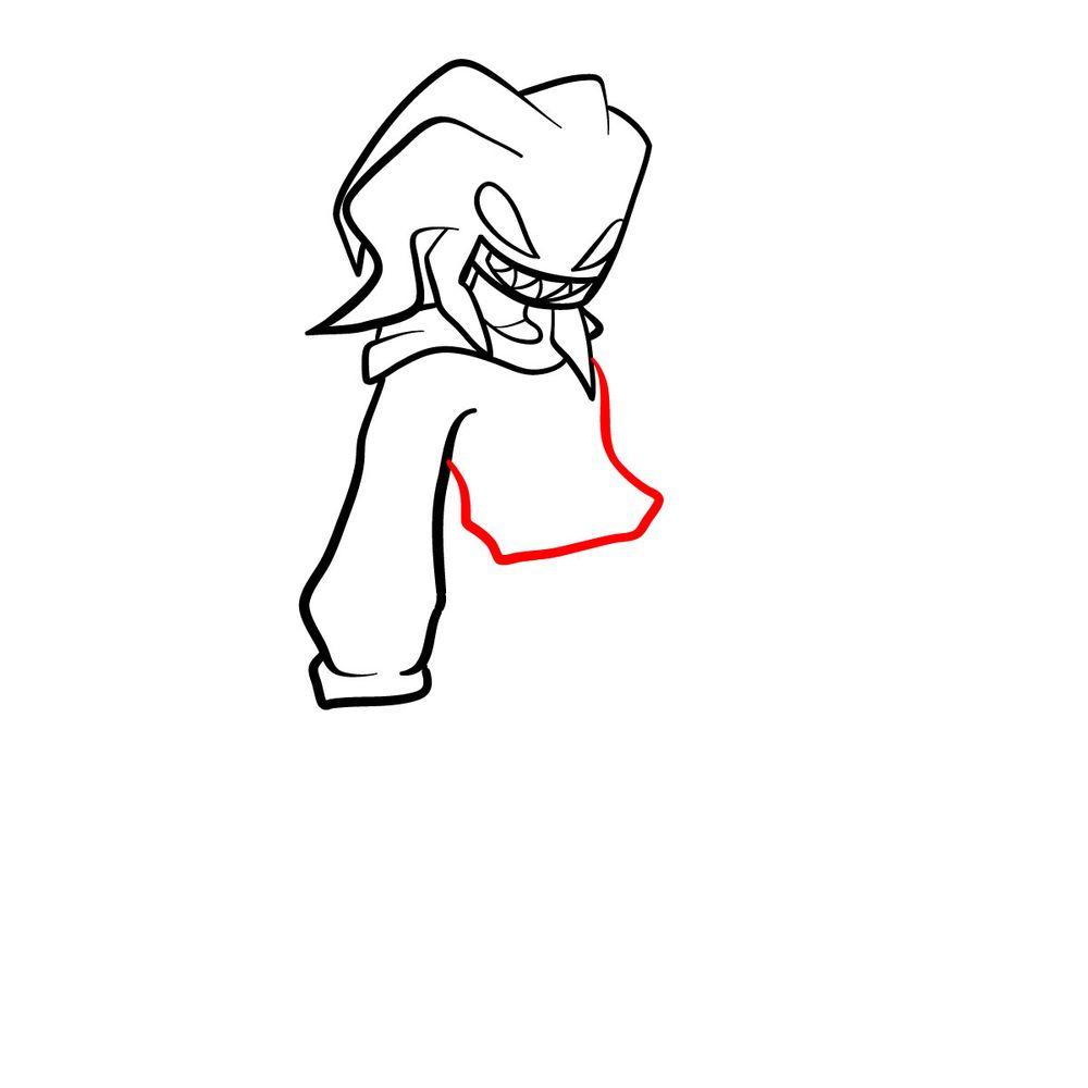 How to draw Agoti - FNF - step 11