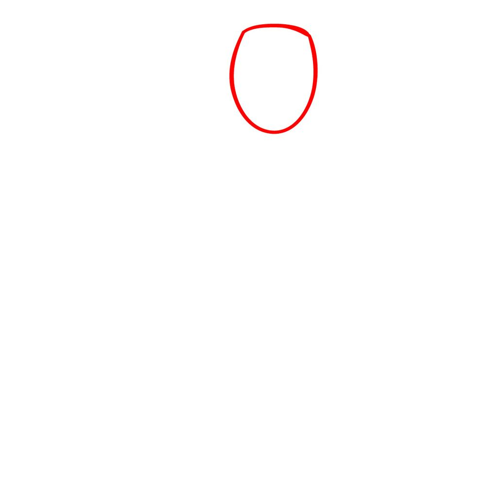How to draw Smiler - FNF - step 01