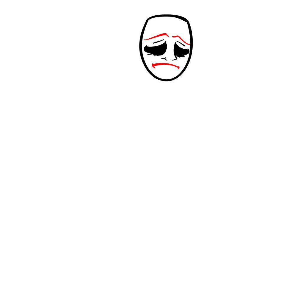 How to draw Smiler - FNF - step 04