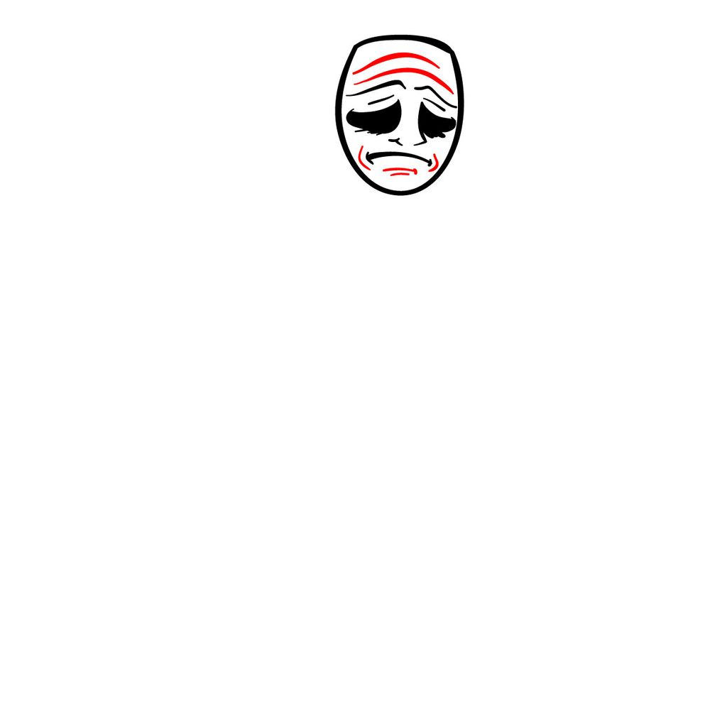 How to draw Smiler - FNF - step 05