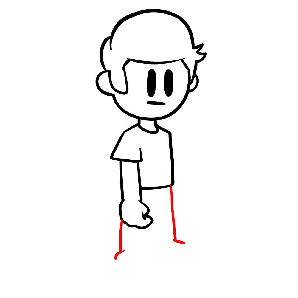 How to draw Nonsense - FNF - step 09