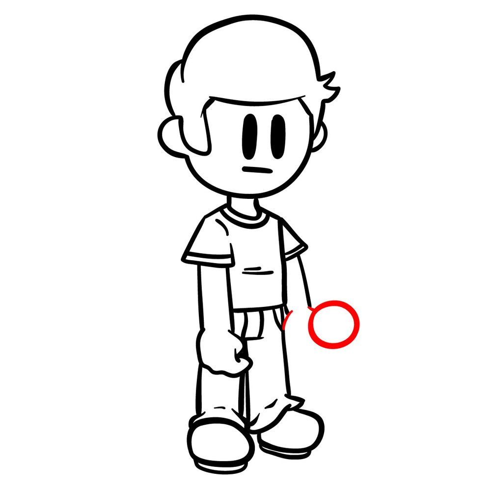 How to draw Nonsense - FNF - step 16
