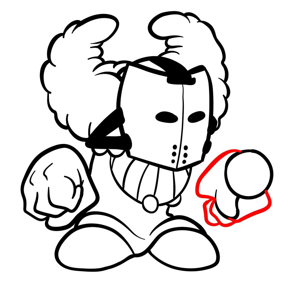 How to draw Tricky the Clown - FNF - step 17