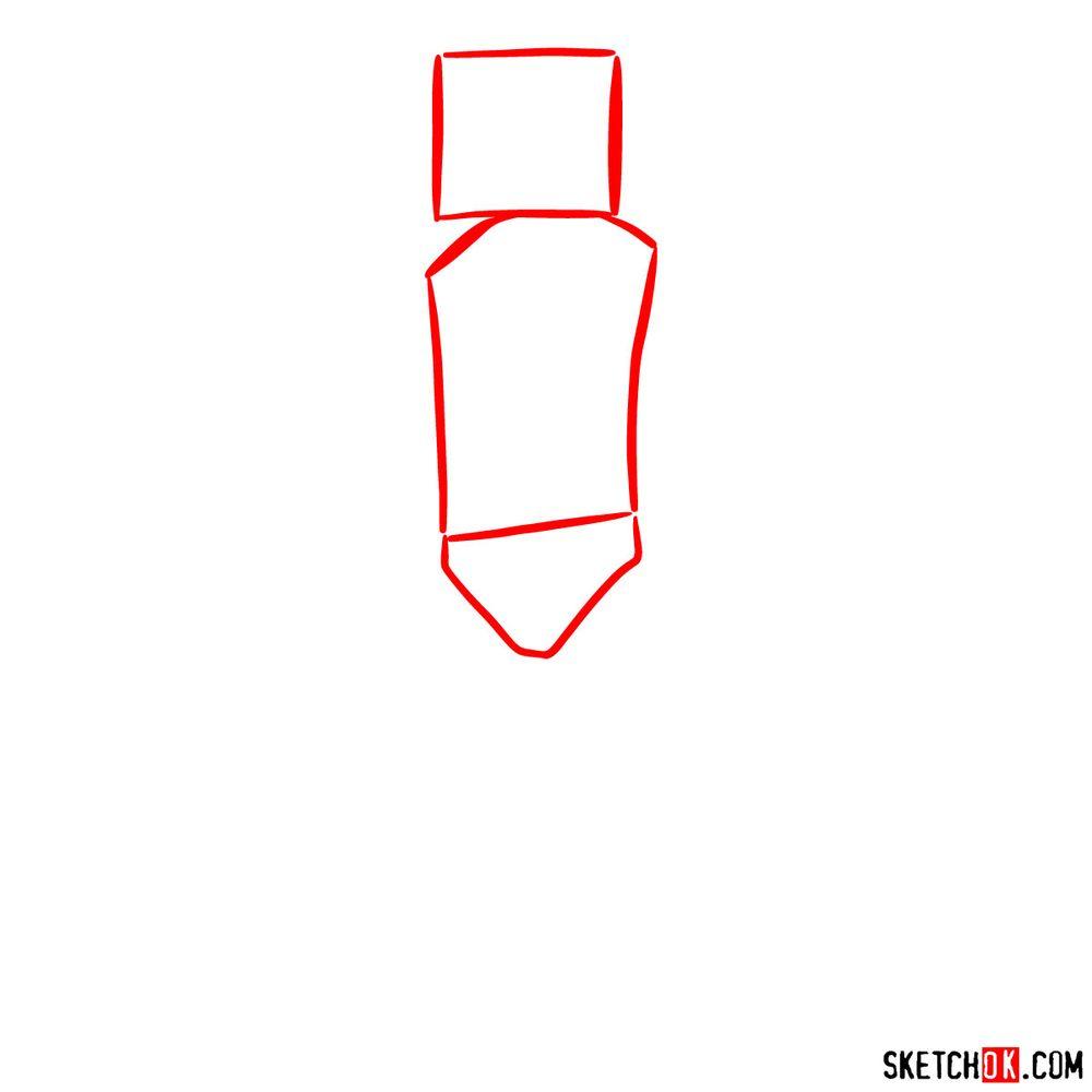 How to draw Marshmello - step 01