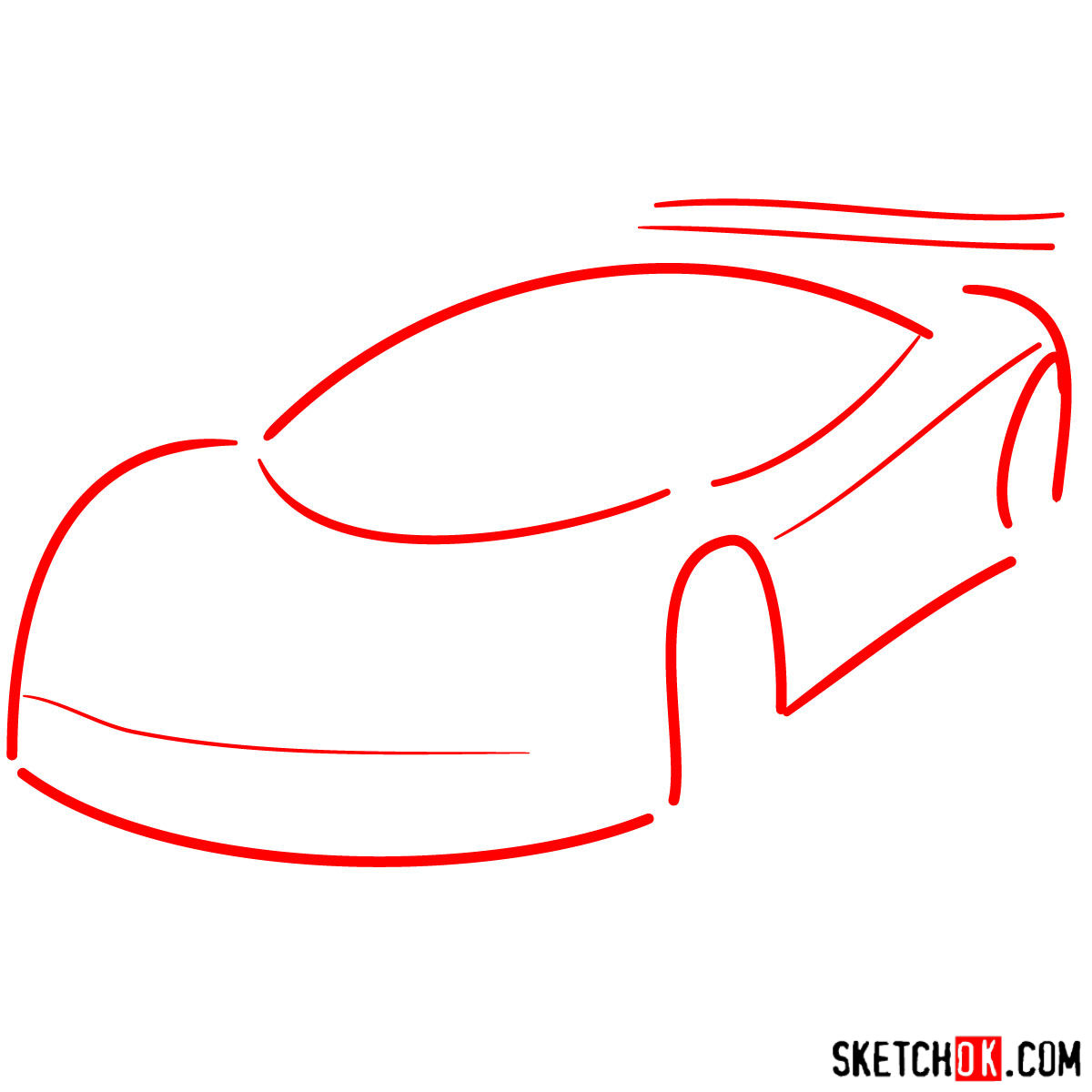 How to draw McLaren F1 - Step by step drawing tutorials