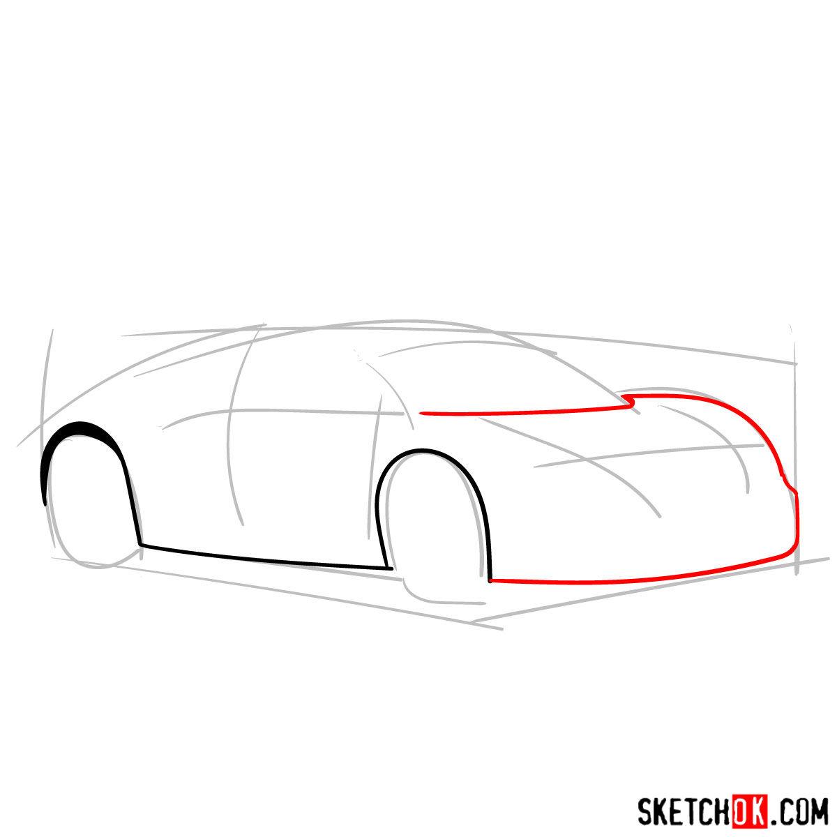 How to draw Bugatti Veyron 16.4 Super Sport - step 03