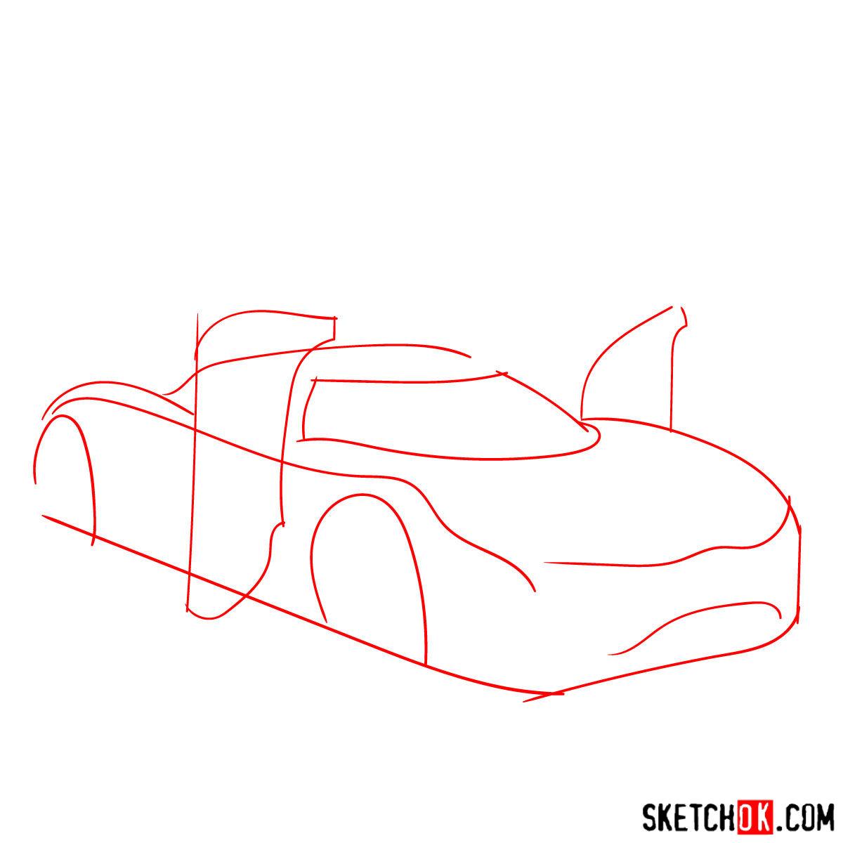 How to draw Koenigsegg Agera R Oman - step 01