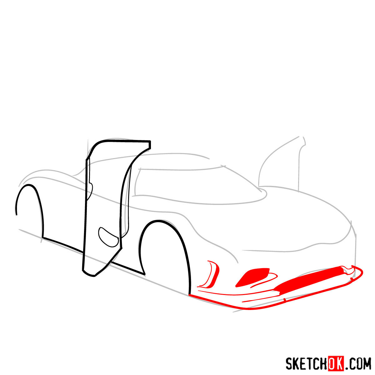 How to draw Koenigsegg Agera R Oman - step 04
