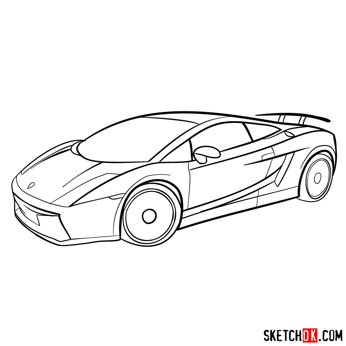 How to draw lamborghini gallardo step 11