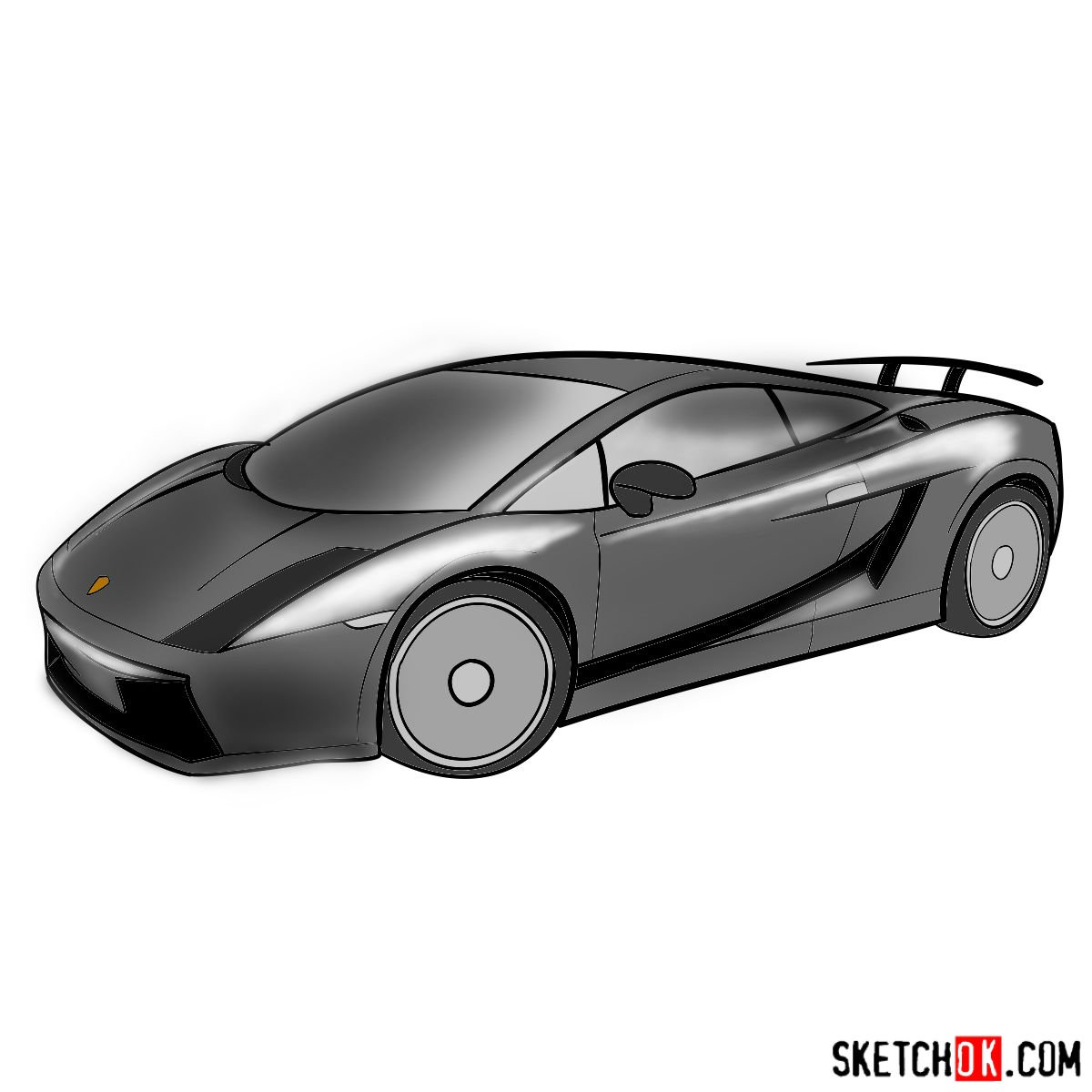 How to draw Lamborghini Gallardo
