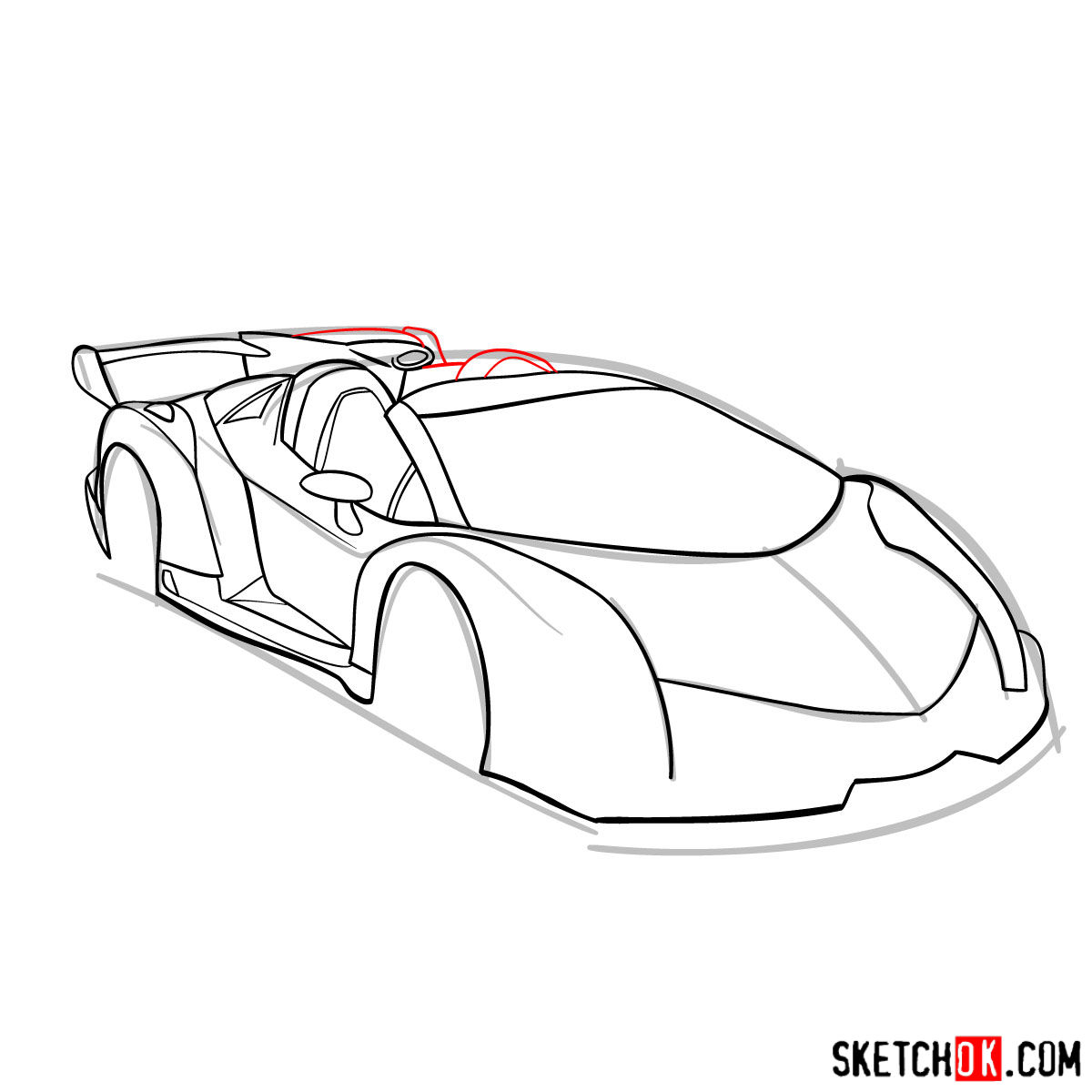 How To Draw Lamborghini Veneno